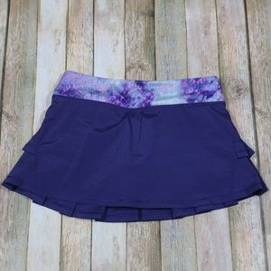 Ivivva Lululemon Set The Pace Skirt Pleated